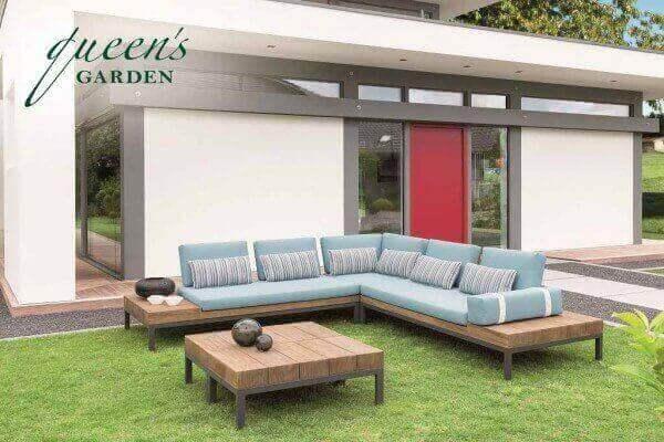 """Queen's Garden Teakholz Lounge """"Combi"""" 5-Personen"""