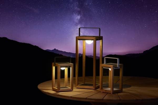 Teakholt Solarleuchte Best-Light weiss