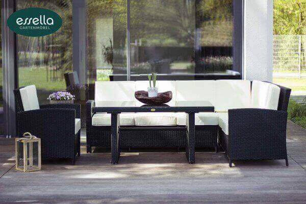 essella polyrattan sitzgruppe berlin 6 personen. Black Bedroom Furniture Sets. Home Design Ideas