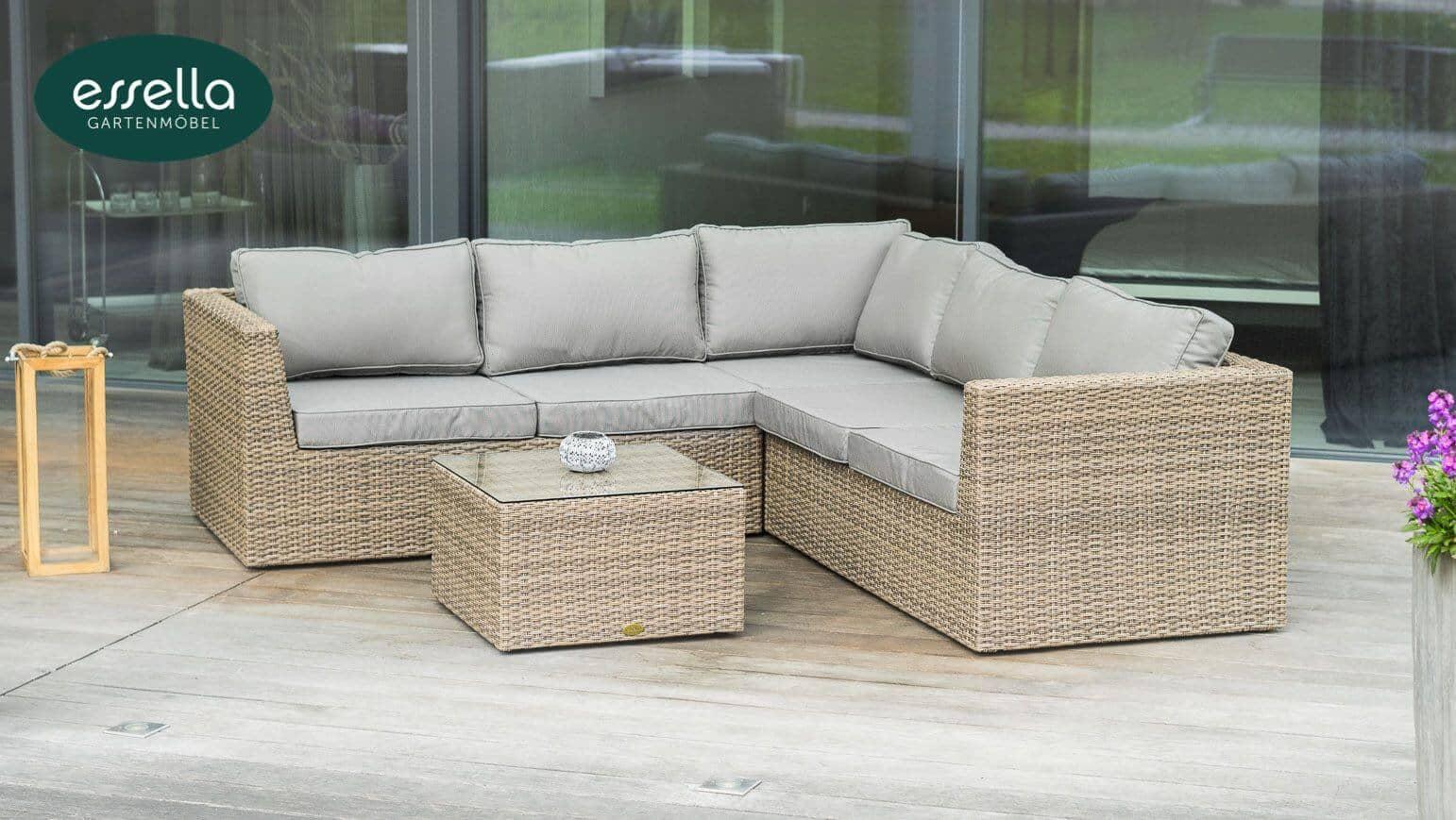 essella polyrattan loungem bel oslo rundgeflecht. Black Bedroom Furniture Sets. Home Design Ideas