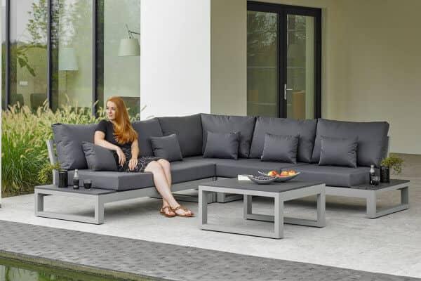 Aluminium Lounge Mallorca grey matte grau matt