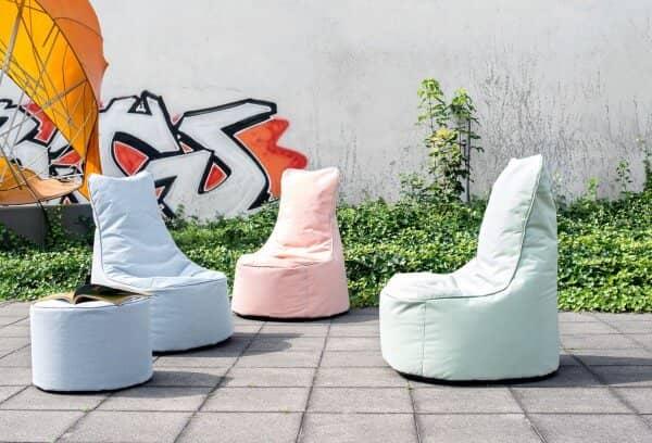 Flötotto Olefin Sitzsack mit Hocker Chill Seat