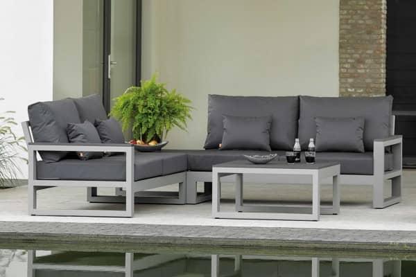 ALuminium Lounge Mallorca Grau Matt