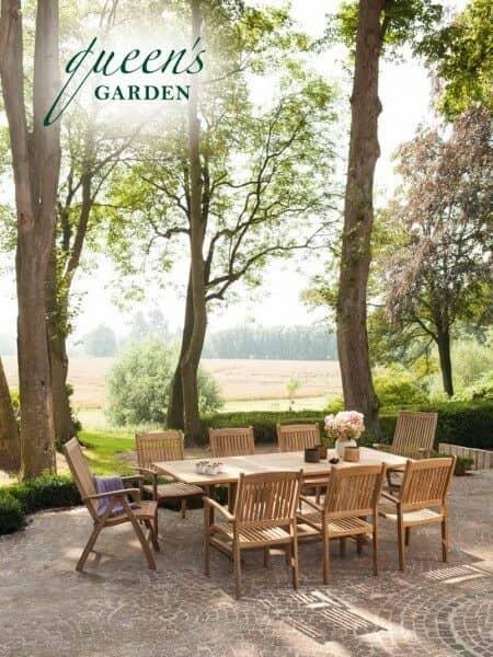 """Queen's Garden Edelstahl & Teakholz Sitzgruppe """"Baro"""" . gartenmode.de"""
