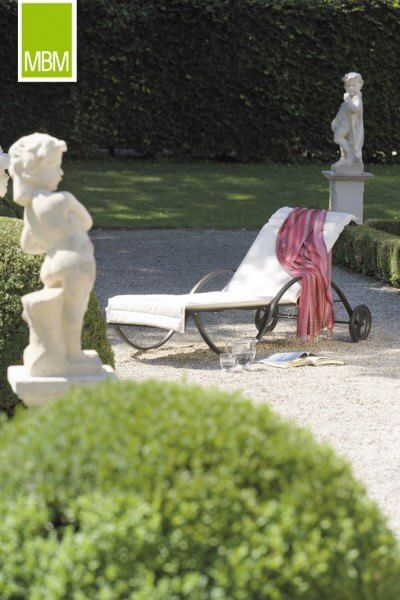 "MBM Schmiedeeisen Sonnenliege ""Romeo"" : gartenmode.de"