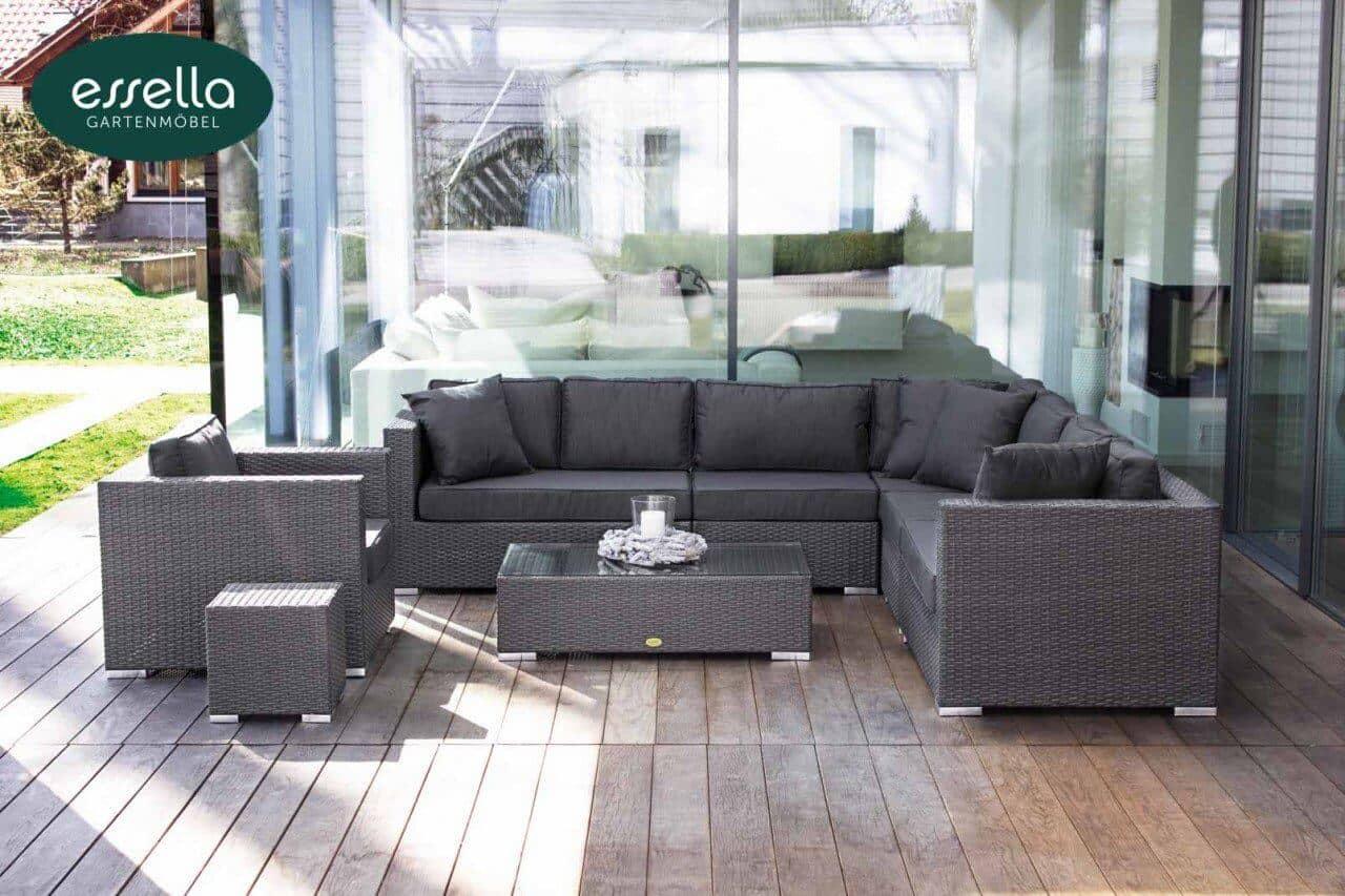 garten lounge m bel grau. Black Bedroom Furniture Sets. Home Design Ideas