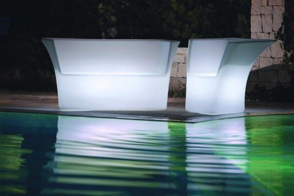 LED beleuchtetes Lounge-Set Cairo in italienischem Design