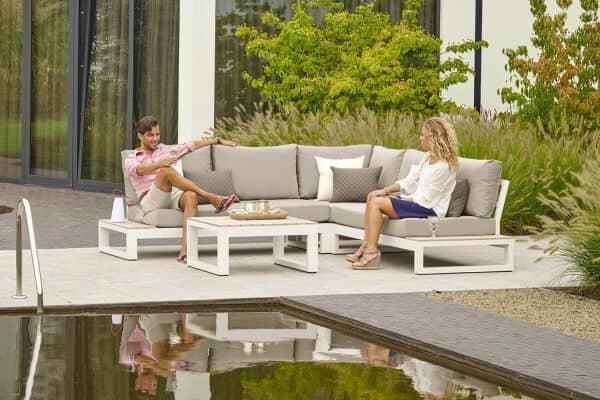 Life Aluminium Lounge Mallorca white weiß