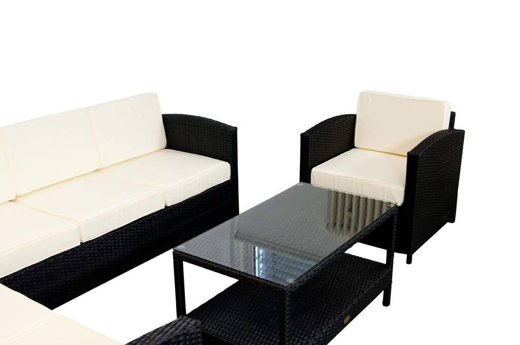vorschau essella polyrattan lounge london schwarz flachgeflecht. Black Bedroom Furniture Sets. Home Design Ideas