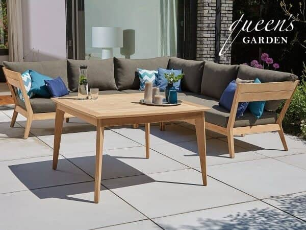 Queen s garden teakholz dining lounge kent too design for Dinner lounge gartenmobel