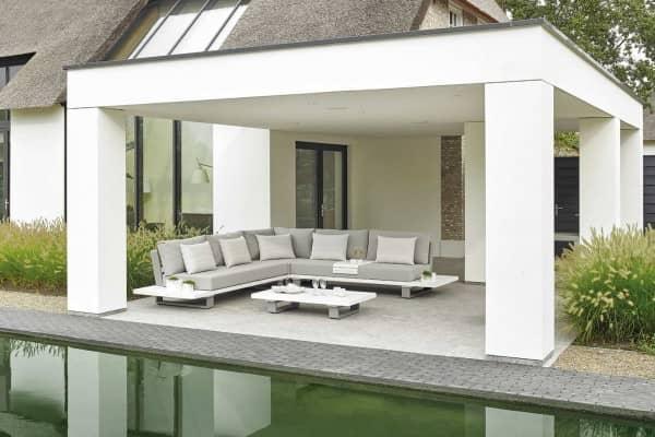 Aluminium Lounge Fitz Roy 5-Personen Weiß