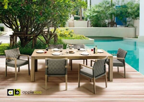 "Apple Bee Sitzgruppe ""Square"" Teak: gartenmode.de"