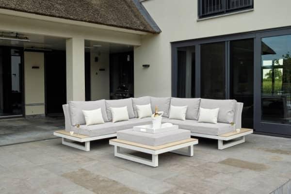 Aluminium Lounge Bloch 4-Personen Weiß