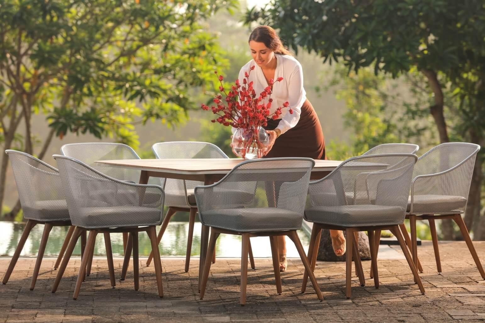 mbm schmiedeeisen resysta sitzgruppe ohio silber 8 personen. Black Bedroom Furniture Sets. Home Design Ideas