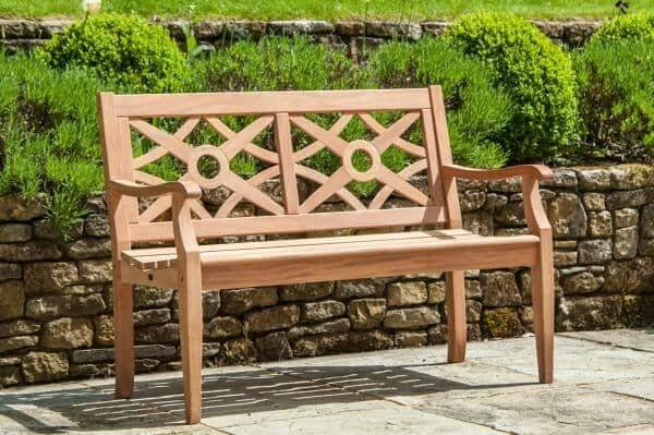 Alexander Rose Holz Bank Heritage 2-Sitzer Mahagoni Gesamt