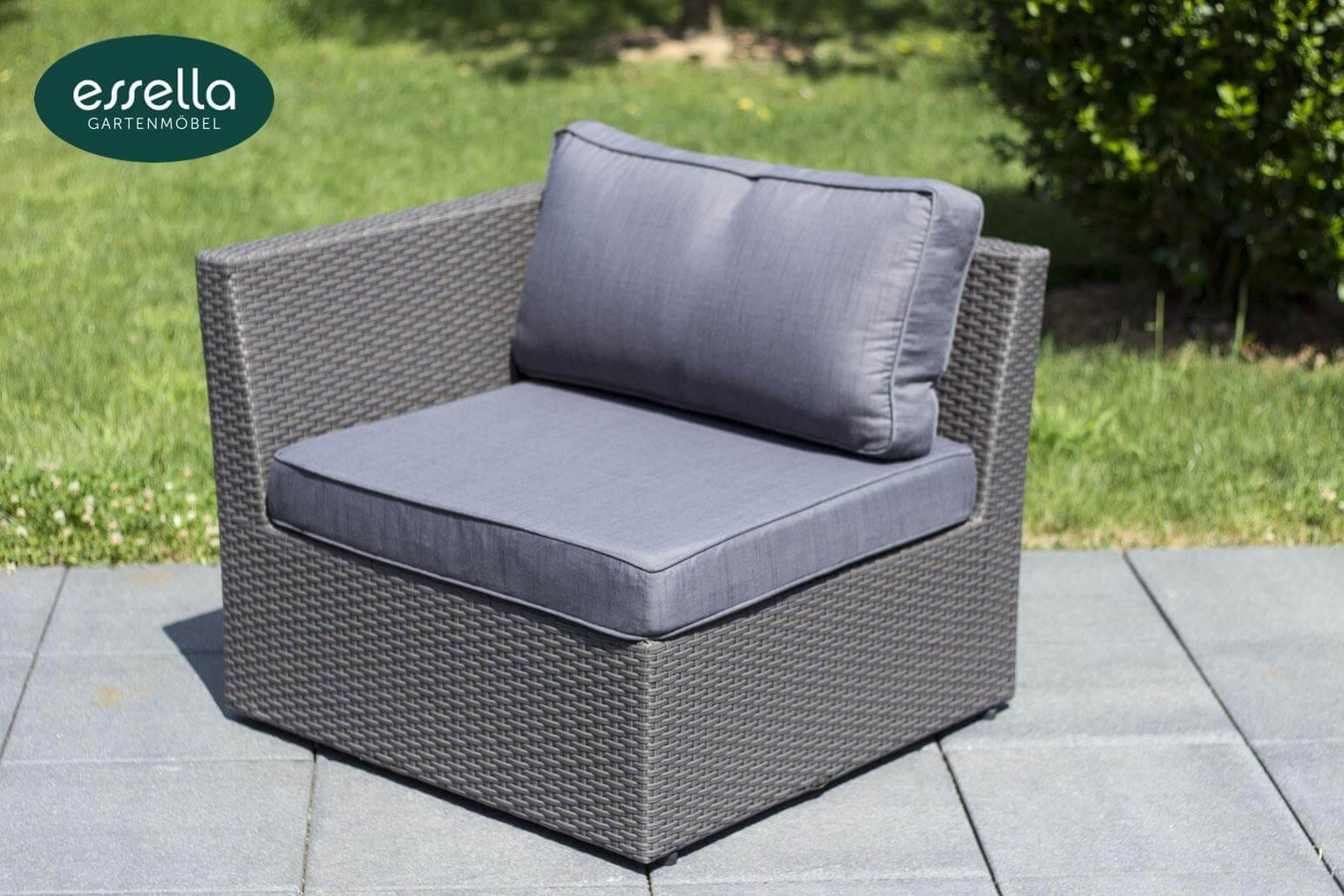 vorschau essella polyrattan lounge venezia grau flachgeflecht. Black Bedroom Furniture Sets. Home Design Ideas