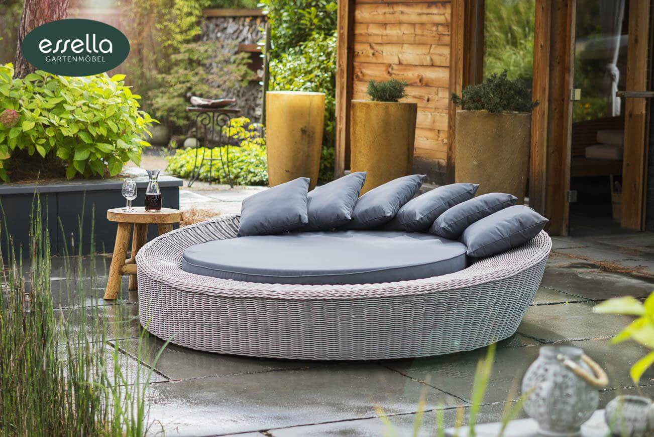 essella polyrattan sonneninsel havanna rundgeflecht. Black Bedroom Furniture Sets. Home Design Ideas
