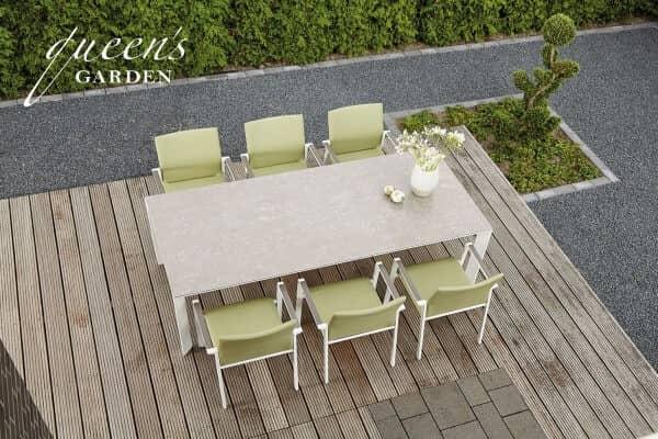 Queens-Garden-Aluminium-Sitzgruppe-Maira-weiss-taupe