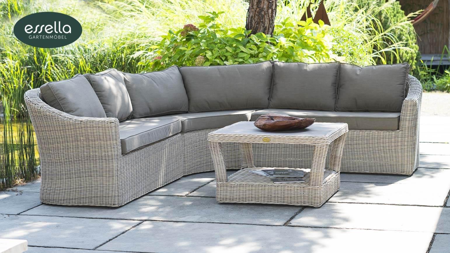 vorschau essella polyrattan lounge porto sand rundgeflecht. Black Bedroom Furniture Sets. Home Design Ideas