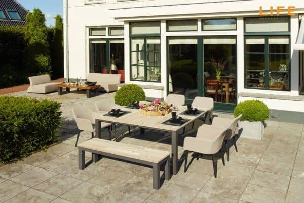 Aluminium Sitzgruppe Concept - Nuna Dining 8-Personen