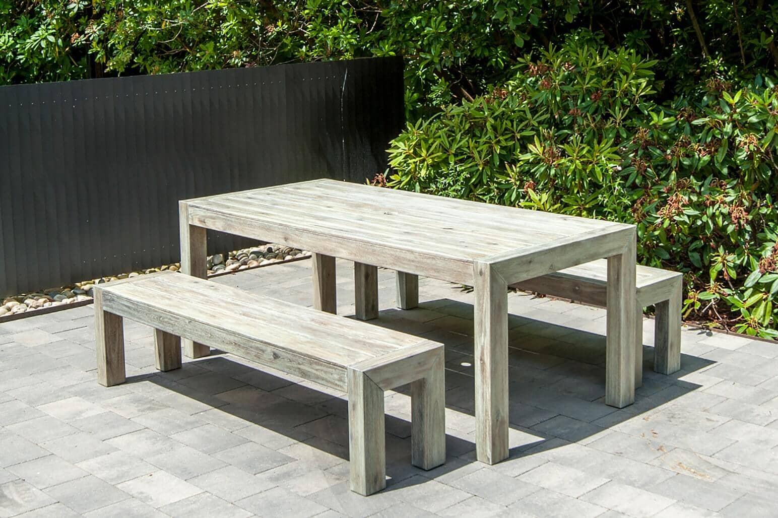 Holz Sitzgruppe Rustikal 6 Personen Akazie