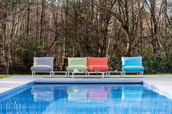 Aluminium Loungegruppe Beach Lounge Weiss Too Design Gartenmobel