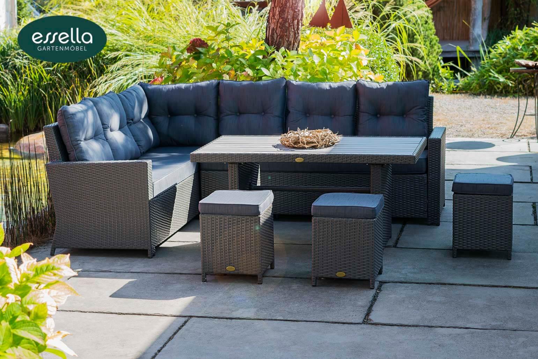 polyrattan sitzgruppe palma 8 personen flachgeflecht. Black Bedroom Furniture Sets. Home Design Ideas