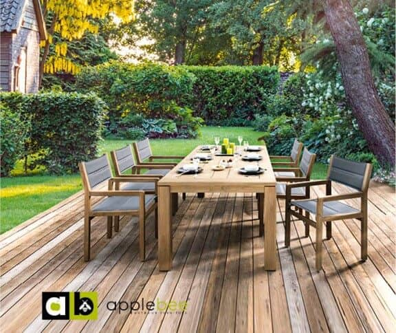 apple bee teakholz sitzgruppe del mar 6 personen. Black Bedroom Furniture Sets. Home Design Ideas