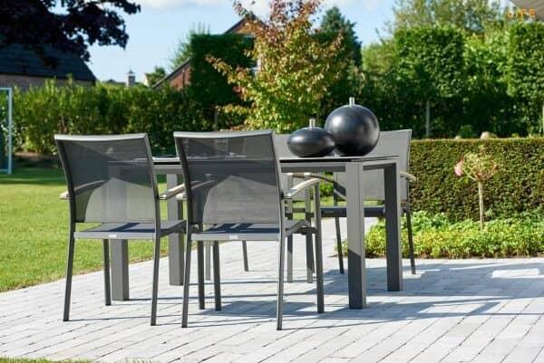 Aluminium Sitzgruppe Concept 4-Personen Lava