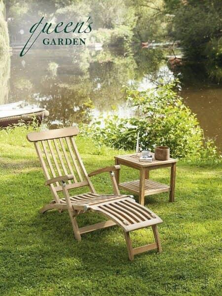 """Queen's Garden Sonnenliege """"York"""" Teakholz: gartenmode.de"""