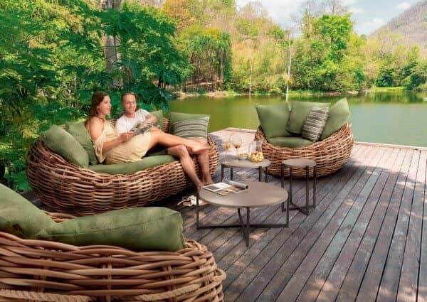 Apple Bee Geflecht Lounge Cocoon