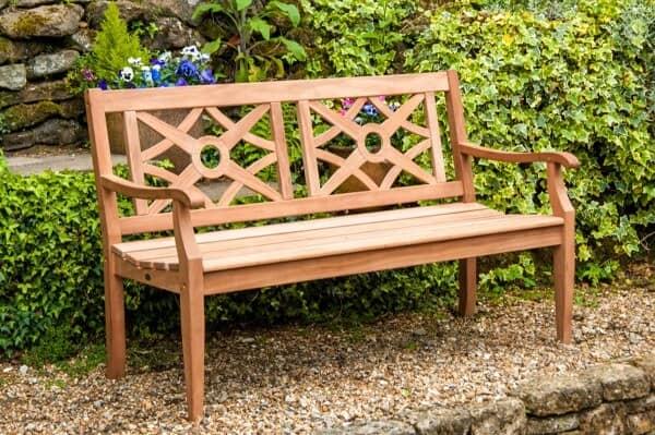 Alexander Rose Holz Bank Heritage 3-Sitzer Mahagoni Gesamt