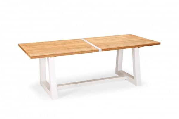 Aluminium Teakholz Tisch Campione 6-Personen