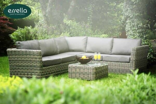 essella polyrattan garten lounge boston rundgeflecht. Black Bedroom Furniture Sets. Home Design Ideas