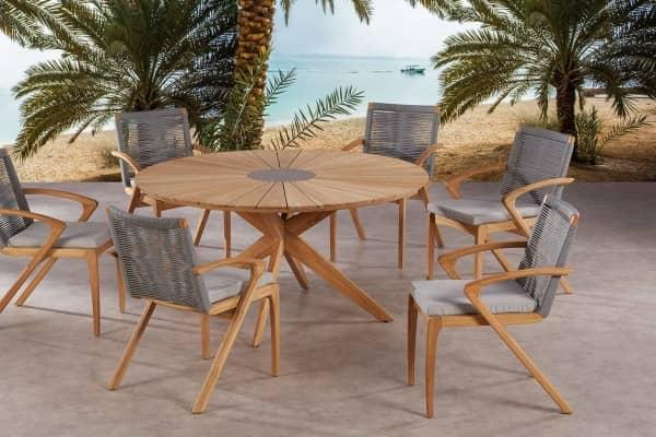 Teakholz Dining Sitzgruppe Agadir 6-Personen