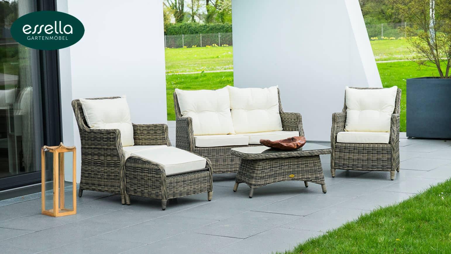 essella polyrattan loungem bel dublin rundgeflecht. Black Bedroom Furniture Sets. Home Design Ideas