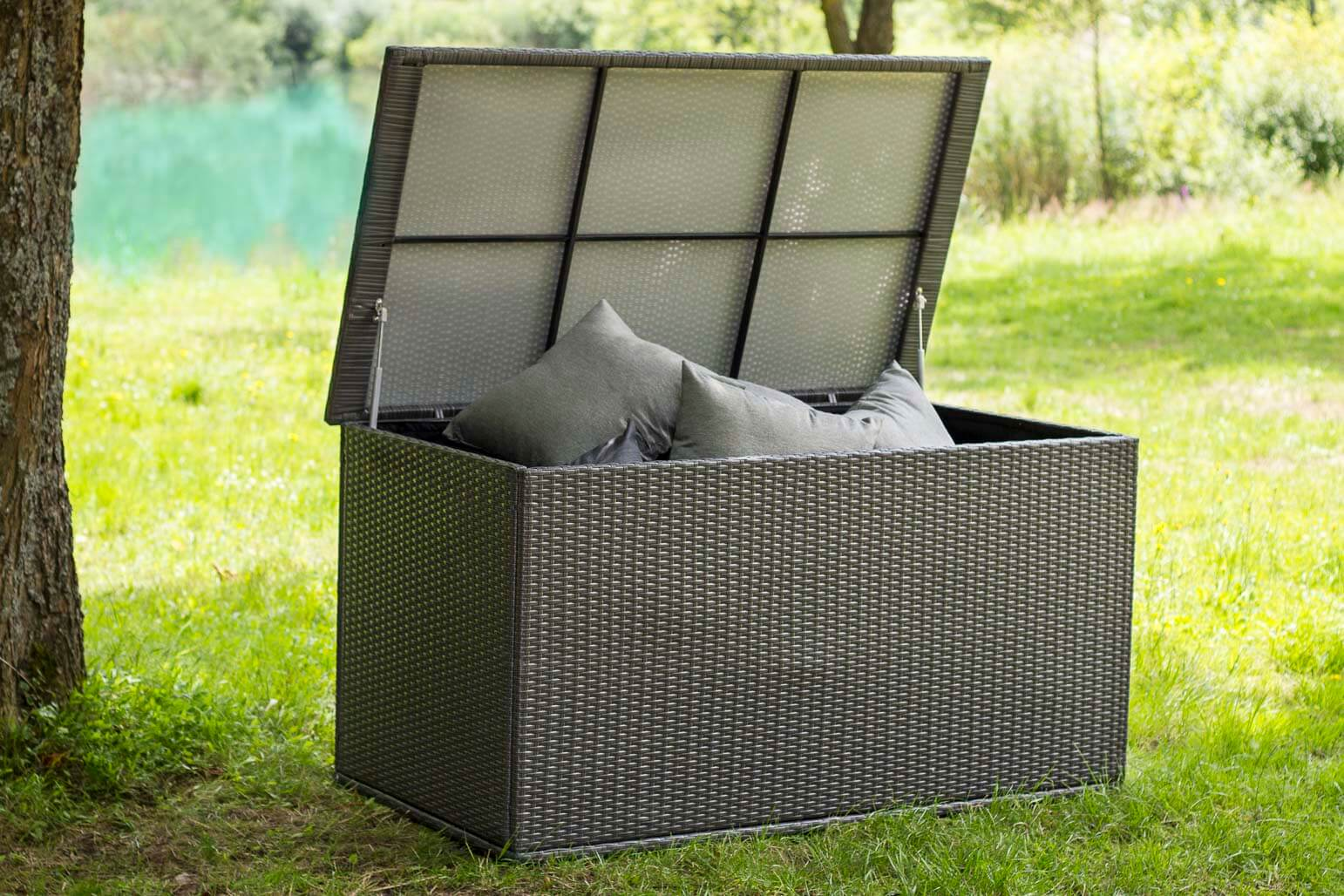 hochwertige polyrattan kissenboxen too design gartenm bel. Black Bedroom Furniture Sets. Home Design Ideas