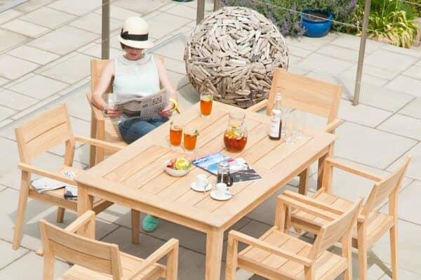 Holz Sitzgruppe 6-Personen Roble